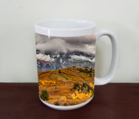 Colorado Sneffels Range Mountains  Fall Aspen Coffee Mug