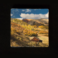 "Old Colorado Cabin 6""  Tumbled Stone Trivet"