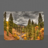 Colorado Trout Lake Trestle Photo Glass Cutting Board 8x11 and 12x15